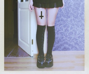 creepers, cross, and dress image