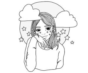 girl, art, and stars image