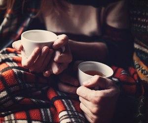 love, tea, and couple image