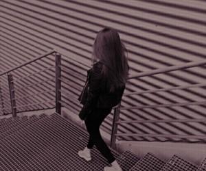 girl, purple, and aesthetic image