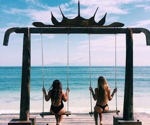 summer, beach, and girls image