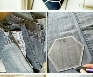 decor, diy, and jeans image