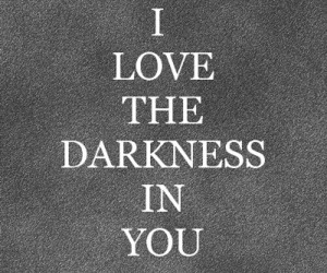 Darkness, love, and quotes image