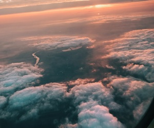 afterglow, beautiful, and clouds image