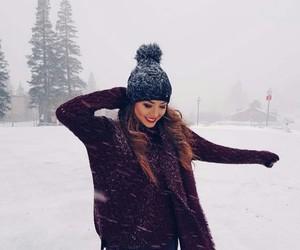 fashion, snow, and girl image