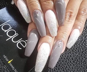 nails, nailart, and longnails image