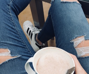 coffee, jeans, and morning image