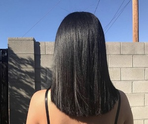 girl, hair, and straight image