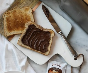 bread, breakfast, and chocolate image