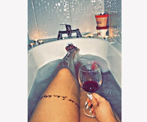bath, relax, and inspired image