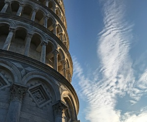 city, leaning tower, and Pisa image