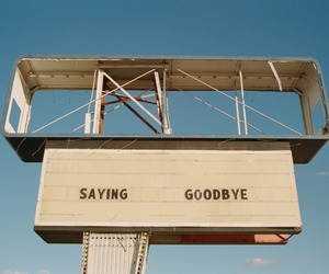 aesthetic, goodbye, and sign image