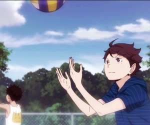 haikyuu, aobajohsai, and iwaoi image