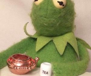 meme, kermit, and tea image