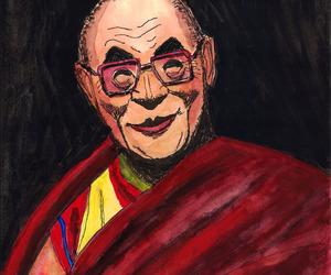 buddhism, caricature, and china image