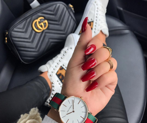 nails, bag, and gucci image
