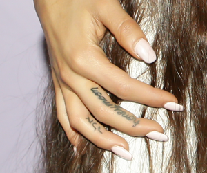 hand, tattoo, and ariana grande image