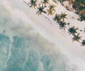 beach, drone, and ocean image