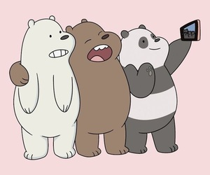 wallpaper, bear, and selfie image