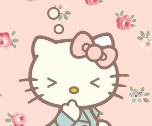 hello kitty, wallpaper, and HelloKitty image