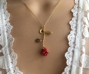 rose, necklace, and fashion image