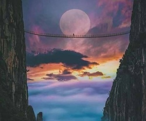 moon, photography, and mountains image