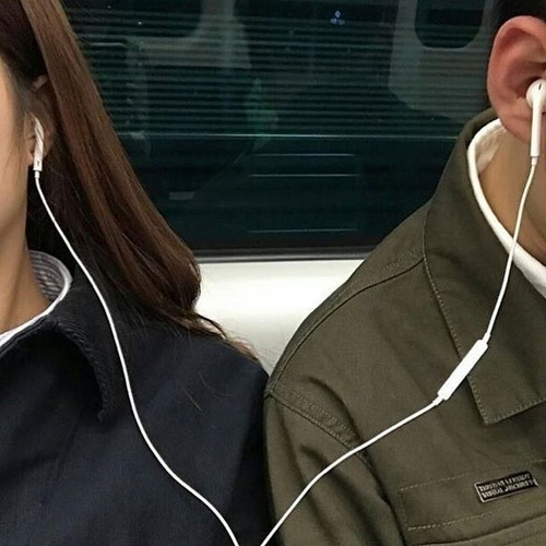 music, couple, and boy image