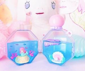 blue, mermaid, and perfume image