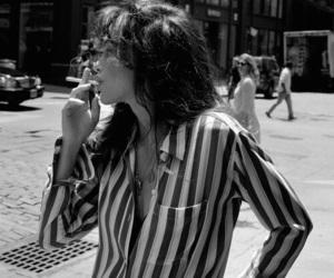 black and white, smoke, and cigarette image