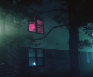 grunge, pink, and night image