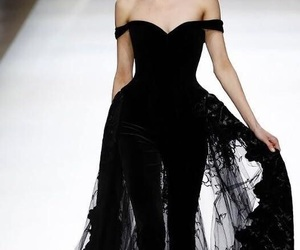 black, catwalk, and clothes image