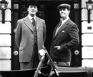 hugh laurie, stephen fry, and jeeves & wooster image