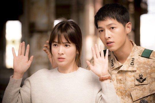 song hye kyo, song joong ki, and descendants of the sun image