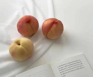 peach, aesthetic, and fruit image
