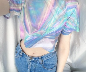 holographic, grunge, and outfit image
