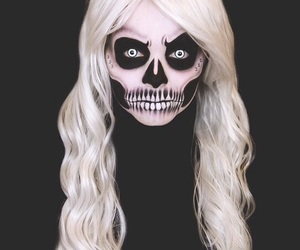 Halloween, black, and makeup image