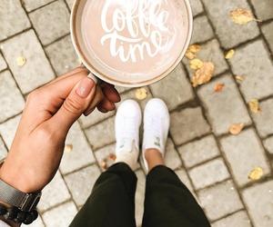 coffee, coffee break, and fall image