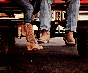 boots, couple, and country couple image