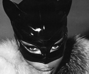 black and white, cateye, and catwoman image