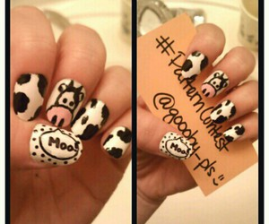 cow, girls, and moo image