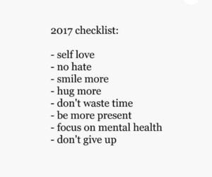 checklist, hug, and mental health image