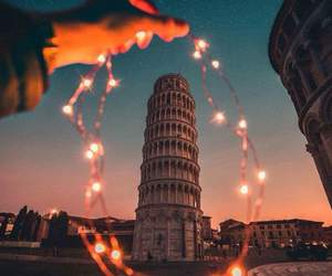 travel, italy, and lights image