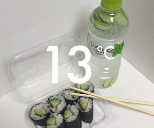 green, aesthetic, and sushi image