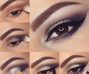tutorial, eyes, and makeup image