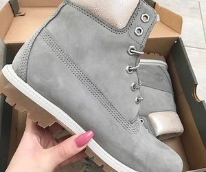 grey, timberland, and boots image