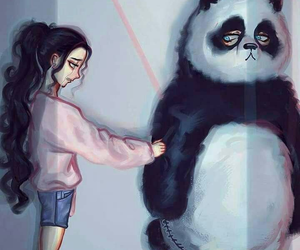 panda and art image