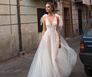 love, wedding, and wedding dress image