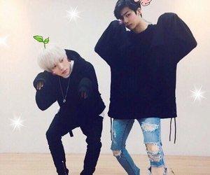 monsta x, minhyuk, and hyungwon image