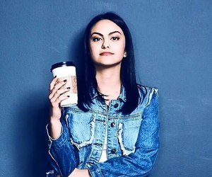 camila mendes, riverdale, and coffee image