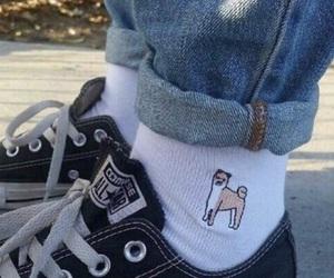 converse, dog, and socks image